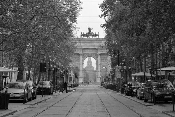5 Loretta Marchesan - Milano - Prospettiva su Arco della Pace e Castello Sforzesco